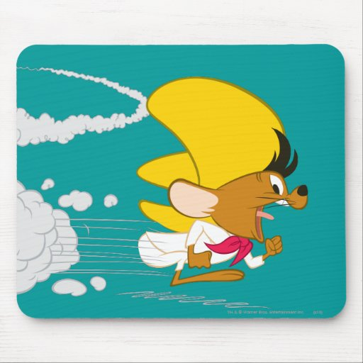 Speedy Gonzales Running in Color Mouse Pads