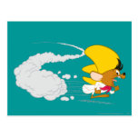 Speedy Gonzales Running in Color Postcard