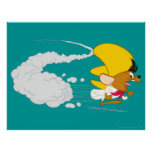 Speedy Gonzales Running in Color Poster