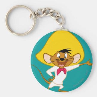 Speedy Gonzales Standing Basic Round Button Keychain