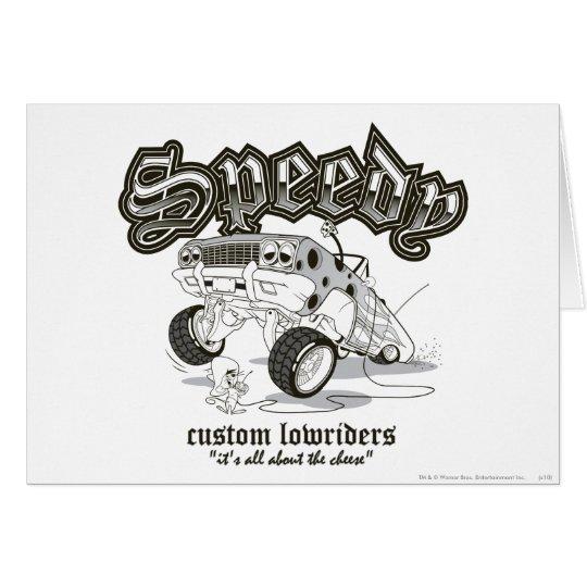Speedy Gonzalez Custom Lowriders B/W Card
