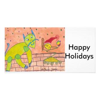 SPEEDY  Happy Holidays Photo Card Template