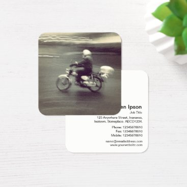 Professional Business Speedy Moped Square Business Card