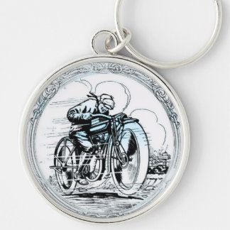 Speedy Motorcycle Guy Keychain