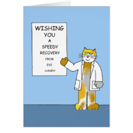 Speedy recovery from eye surgery. card