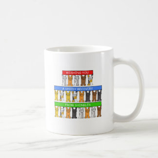 Speedy recovery from shingles. coffee mug
