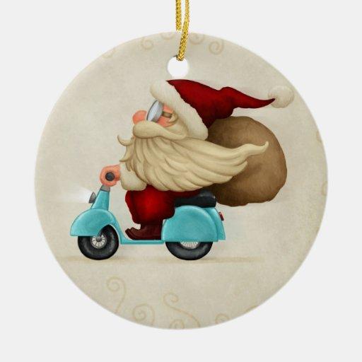 Speedy santa claus ornaments