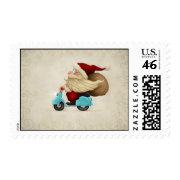 Speedy Santa Claus Postage Stamp