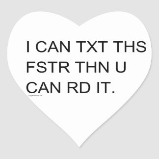 Speedy Texter Child's Retro Heart Sticker