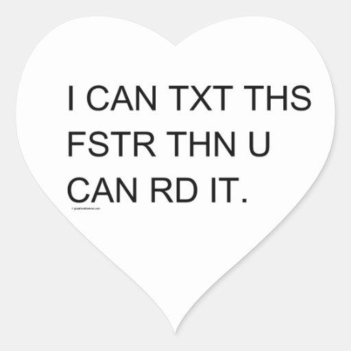 Speedy Texter Child's Retro Heart Stickers