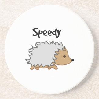 Speedy the Hedgehog Cartoon Illustration Coaster