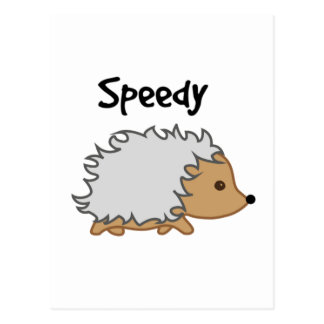 Speedy the Hedgehog Cartoon Illustration Postcard
