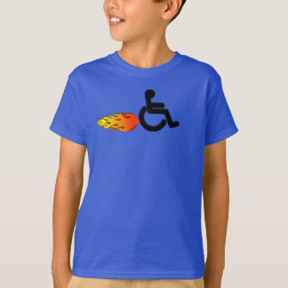 Speedy Wheelchair with Flames T-Shirt