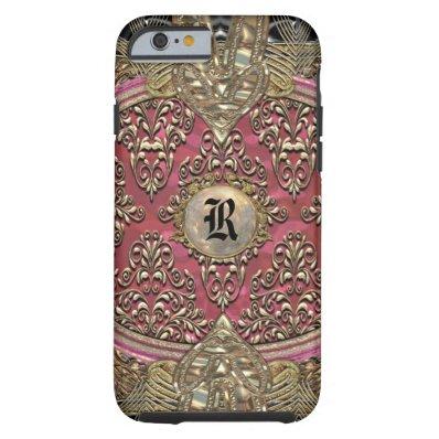 Speigaford Baroque Girly Damask 6/6s Monogram Tough iPhone 6 Case