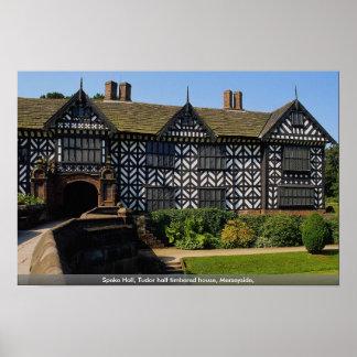 Speke Hall Tudor half timbered house Merseyside Poster