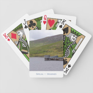 Spelga Dam Mourne Mountains N Ireland Bicycle Playing Cards at Zazzle