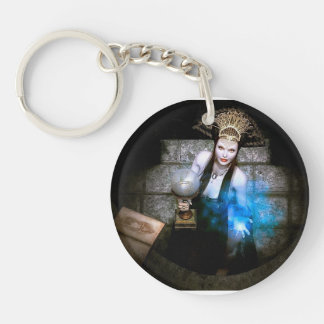 Spell caster Double-Sided round acrylic keychain