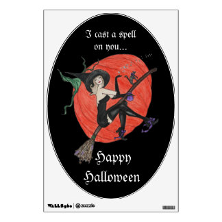 Spell casting Witch for your wall or car Wall Sticker