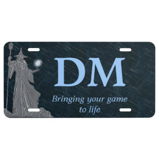 Spell Casting Wizard Dungeon Master License Plate