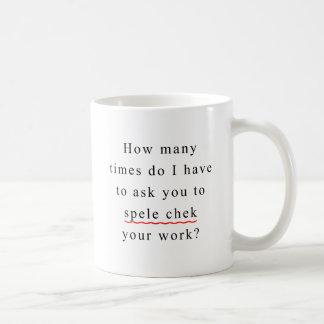 Spell Check Classic White Coffee Mug