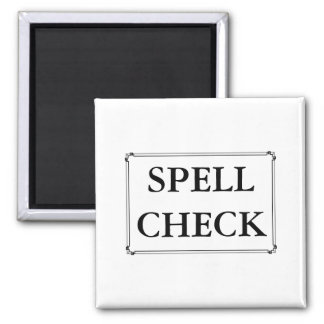 Spell Check Funny Computer Writing Edit Reminder 2 Inch Square Magnet