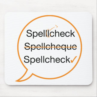 Spell Check Mouse Pads