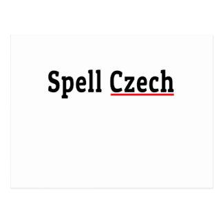 Spell Czech Postcard