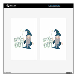 Spell It Out Decal For Kindle Fire
