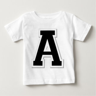 Spell it Out Initial Letter A Black Infant Tee