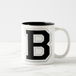 Spell it Out Initial Letter B Black Coffee Mug