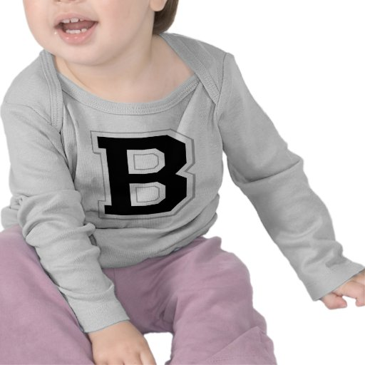 Spell it Out Initial Letter B Black Infant Tee