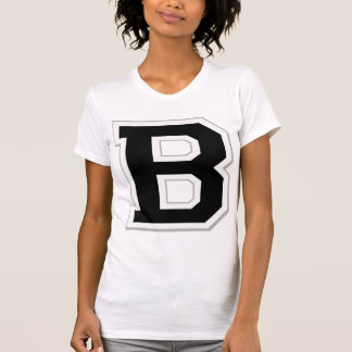 Spell it Out Initial Letter B Black Women's Tee