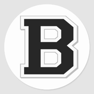 Spell it Out Initial Letter B in Black Stickers