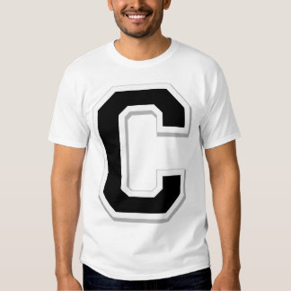 Spell it Out Initial Letter C Black Men's T-shirt