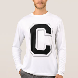 Spell it Out Initial Letter C Black Men's Tee