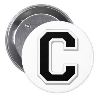 Spell it Out Initial Letter C in Black Button