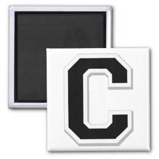 Spell it Out Initial Letter C in Black Magnet