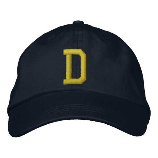 Spell it Out Initial Letter D Ball Cap Embroidered Hat