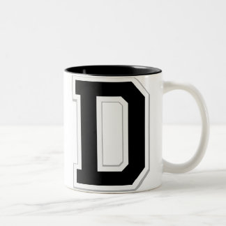 Spell it Out Initial Letter D Black Coffee Mug