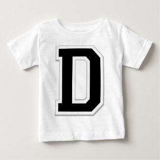 Spell it Out Initial Letter D Black Infant Tee