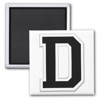 Spell it Out Initial Letter D in Black Magnet