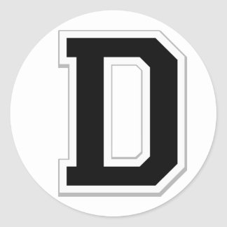 Spell it Out Initial Letter D in Black Stickers