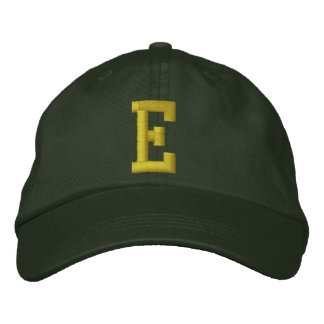 Spell it Out Initial Letter E Ball Cap