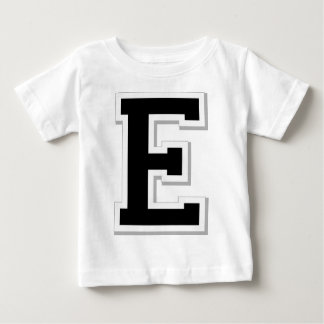 Spell it Out Initial Letter E Black Infant Tee