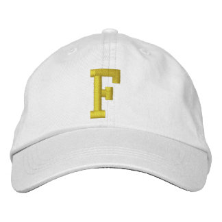 Spell it Out Initial Letter F Ball Cap Baseball Cap
