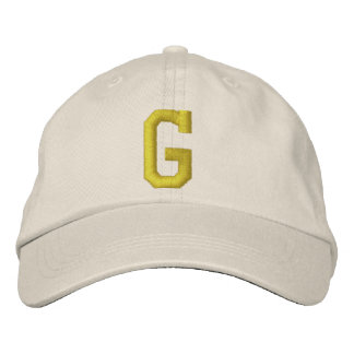 Spell it Out Initial Letter G Ball Cap