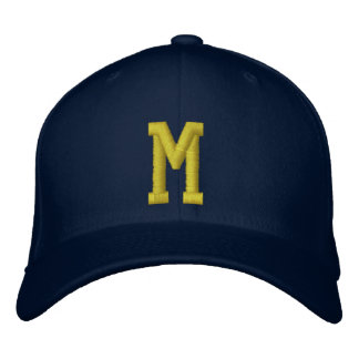 Spell it Out Initial Letter M Ball Cap