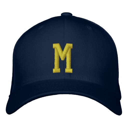 Spell it Out Initial Letter M Ball Cap Embroidered Baseball Cap