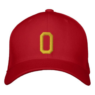 Spell it Out Initial Letter O Ball Cap Embroidered Hats