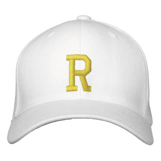 Spell it Out Initial Letter R Ball Cap Embroidered Hat